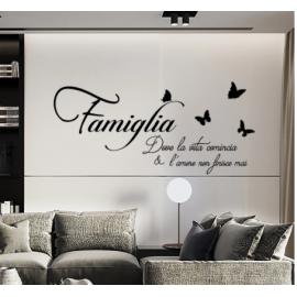 1 takım yaratıcı İtalyan Famiglia harfler yatak odası duvar çıkartmaları çıkarılabilir oturma odası çıkartmaları dekoratif çıkartmalar DIY ev dekoru