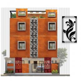 Beş Dallı Yaprak Deseni Metal veya Kompozit Dekoratif Cephe Süslemeleri 50x26 cm