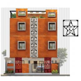 Çerçeve İçinde Yıldız Topluluğu Deseni Metal veya Kompozit Dekoratif Cephe Süslemeleri 50x45 cm