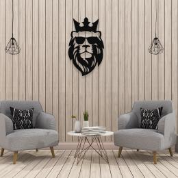 Kral King Aslan Deseni Metal veya Kompozit Dekoratif Cephe Süslemeleri 50x30 cm