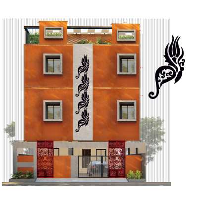 Osmanlı Çini Motifleri Metal veya Kompozit Dekoratif Cephe Süslemeleri 50x28 cm