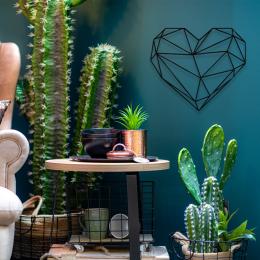 Poligonik Şeklinde Kalp My Heart Saç Metal Dekoratif İç Mekan Tasarım ve Süslemeleri 50x45 cm