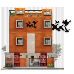 Uçuşan Kuşlar Özgürlük Deseni Metal veya Kompozit Dekoratif Cephe Süslemeleri 50x31 cm