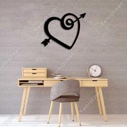 14 Şubat Sevgililer Dolaşmış Kalp Duvar Oda Ev Aksesuarı Ahşap Tablo 50x40cm