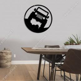 4x4 Jeep Off Road Arazi Aracı Duvar Oda Ev Aksesuarı Ahşap Tablo 50x50cm