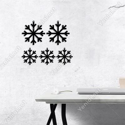 Asma Detaylı Kar Tanesi Yılbaşı Yılbaşı Süslemeleri Mdf Kesim