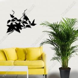 Dalda Küçüğe Sıralanmış Yaprak Duvar Oda Ev Aksesuarı Ahşap Tablo 50x42cm