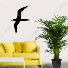 Kanatlarını Açmış Uçan Kuş Duvar Ev Aksesuarı Ahşap Tablo 34x50cm