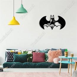 Kanatlı Batman Duvar Oda Ev Aksesuarı Ahşap Tablo 50x28cm