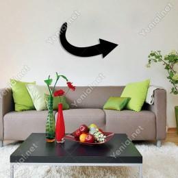 Sağa Doğru Ok Yön İşareti Duvar Oda Ev Aksesuarı Ahşap Tablo 50x30cm