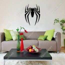 Spider Örümcek Duvar Oda Ev Aksesuarı Ahşap Tablo 35x50cm
