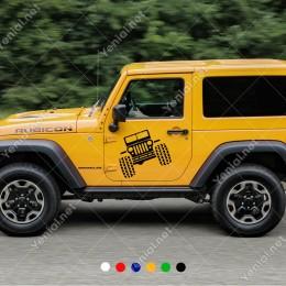 4x4 Jeep Off Road Büyük Tekerlekli Araç Sticker Yapıştırma Araba Sticker, Oto Sticker, Araba Çıkartmaları, Jeep için Aksesuarlar, 4X4 Sticker, Laptop ve Duvar için