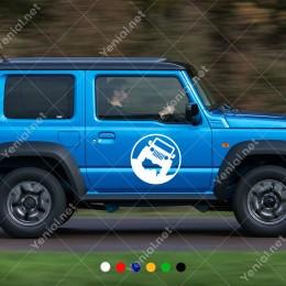 4x4 Jeep Off Road Arazi Aracı Araç Araba Sticker Yapıştırma Araba Sticker, Oto Sticker, Araba Çıkartmaları, Jeep için Aksesuarlar, 4X4 Sticker, Laptop ve Duvar için
