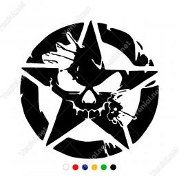 Sıçrama Efektli Punisher Army Sticker Yapıştırma Araba Sticker, Oto Sticker, Araba Çıkartmaları, Jeep için Aksesuarlar, 4X4 Sticker, Laptop ve Duvar için
