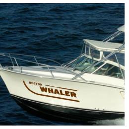 Kişiye ve Tekneye Özel Boston Whaler  Yazısı İsim Sticker 115x50cm