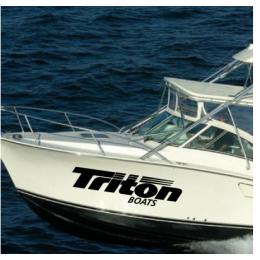 Kişiye ve Tekneye Özel Triton  Yazısı İsim Sticker 115x50cm