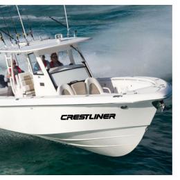 Kişiye ve Tekneye Özel Crestliner  Yazısı İsim Sticker 115x50cm