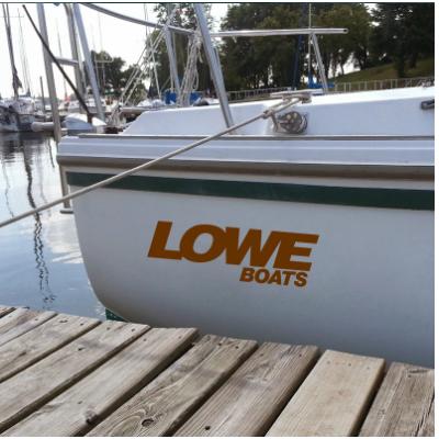 Kişiye ve Tekneye Özel Love Yazısı İsim Sticker 115x50cm