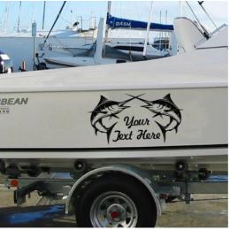 Kişiye ve Tekneye Özel Your Jext Here  Yazısı İsim Sticker 115x50cm