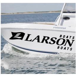 Kişiye ve Tekneye Özel  Larson Yazısı İsim Sticker 115x50cm