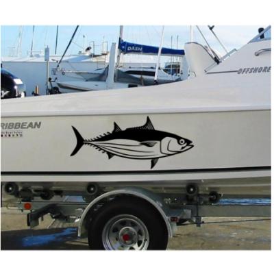 Kişiye ve Tekneye Özel  Balık Kemik Karbon  Yazısı İsim Sticker 115x50cm