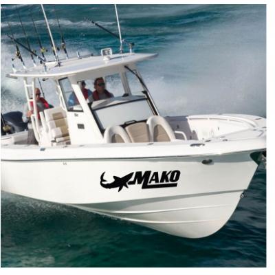 Kişiye ve Tekneye Özel  Mako  Yazısı İsim Sticker 115x50cm