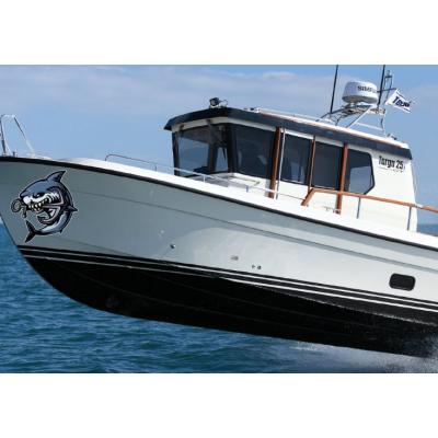Kişiye ve Tekneye Özel Shark Yazısı İsim Sticker 115x50cm