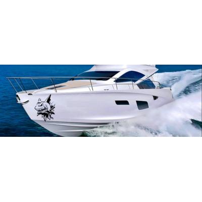 Kişiye ve Tekneye Özel Nasty Shark Yazısı İsim Sticker 115x50cm