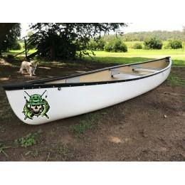 Kişiye ve Tekneye Özel Skull Yazısı İsim Sticker 115x50cm