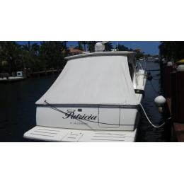 Kişiye ve Tekneye Özel Patricia  Yazısı İsim Sticker 115x50cm