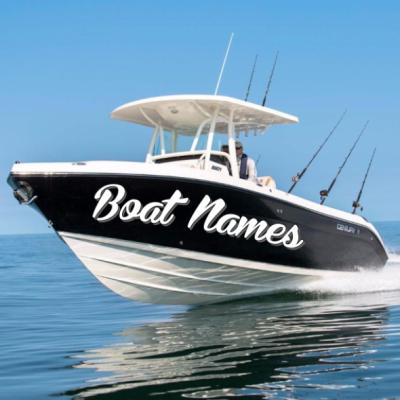 Kişiye ve Tekneye Özel Boat Name  Yazısı İsim Sticker 115x50cm