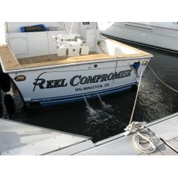 Kişiye ve Tekneye Özel Reel Compromise  Yazısı İsim Sticker 115x50cm