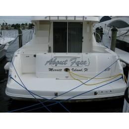Kişiye ve Tekneye Özel About Face  Yazısı İsim Sticker 115x50cm