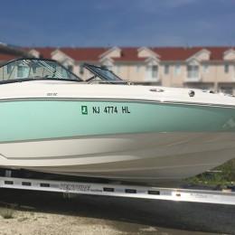 Kişiye ve Tekneye Özel Serial Number  Yazısı İsim Sticker 115x50cm