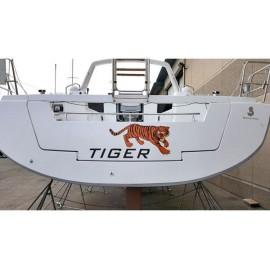 Kişiye ve Tekneye Özel TIGER Yazısı İsim Sticker 115x50cm