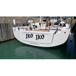 Kişiye ve Tekneye Özel Iko Iko Yazısı İsim Sticker 115x50cm