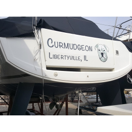 Kişiye ve Tekneye Özel Curmudgeon Yazısı İsim Sticker 115x50cm