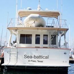 Kişiye ve Tekneye Özel Sea Battical Yazısı İsim Sticker 115x50cm