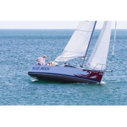 Kişiye ve Tekneye Özel Blue Moon Yazısı İsim Sticker 115x50cm