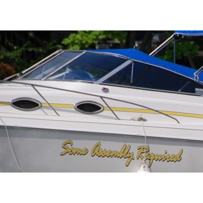 Kişiye ve Tekneye Özel Some Assembly Required  Yazısı İsim Sticker 115x50cm