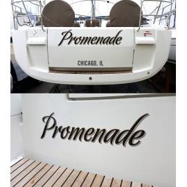Kişiye ve Tekneye Özel Promenado Yazısı İsim Sticker 115x50cm