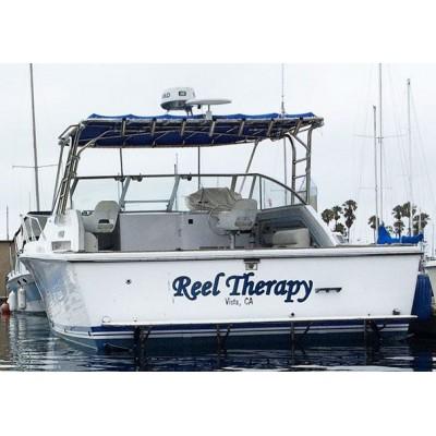 Kişiye ve Tekneye Özel Reel Therapy Yazısı İsim Sticker 115x50cm