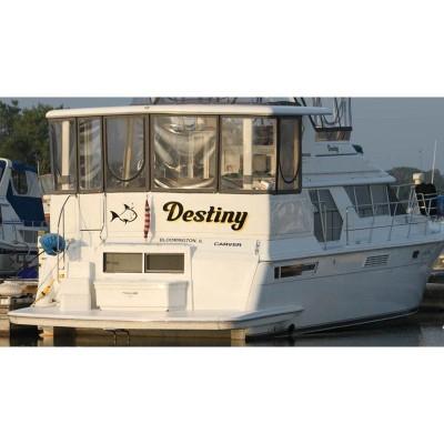 Kişiye ve Tekneye Özel Destiny Yazısı İsim Sticker 115x50cm
