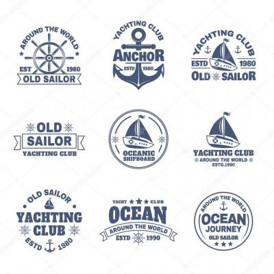 Kişiye ve Tekneye Özel Ocean Yazısı İsim Sticker 115x50cm