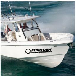Kişiye ve Tekneye Özel Fountain Yazısı İsim Sticker 115x50cm