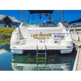 Kişiye ve Tekneye Özel Lady Marrone Yazısı İsim Sticker 115x50cm
