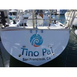 Kişiye ve Tekneye Özel Tino Pai Yazısı İsim Sticker 115x50cm