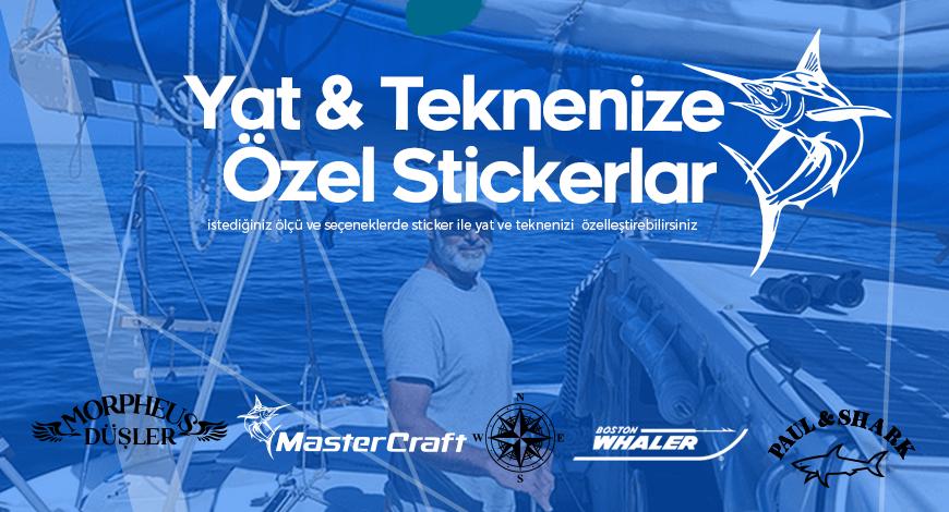Yat ve Teknenize  Özel Stickerlar