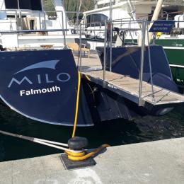Tekneye Yat'a Özel Filo Falmouth Yazısı Sticker Yapıştırma 100x30cm