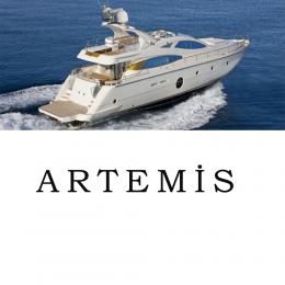 Kişiye Tekneye Yatlara Özel Artemis  Yazısı Sticker Yapıştırma 100x20cm